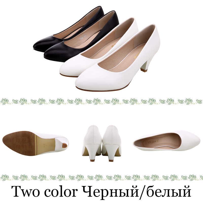Yalnn 3 5 7 Cm negro blanco zapatos de Mujer Tacones altos bombas zapatos de Mujer Tacones altos zapatos de boda Mujer