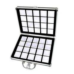 Алюминиевый сплав коробка-драгоценный камень банка пена вставка лоток ювелирных изделий Дисплей Органайзер драгоценные камни бусины чехо...