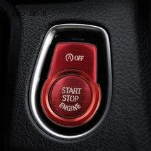 Couvercle de remplacement du bouton de démarrage du moteur, accessoires de décoration de clé pour BMW série 1 2 3 4 gt F20 F21 F30 F34 X1 F48