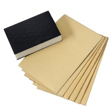 Flocking yellow sandpaper contains 1 sponge block 80 mesh 120