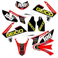 New Full Graphics Decals Stickers Custom Number Name 3M Bright Stickers Waterproof For HONDA CRF250L 2012 2017
