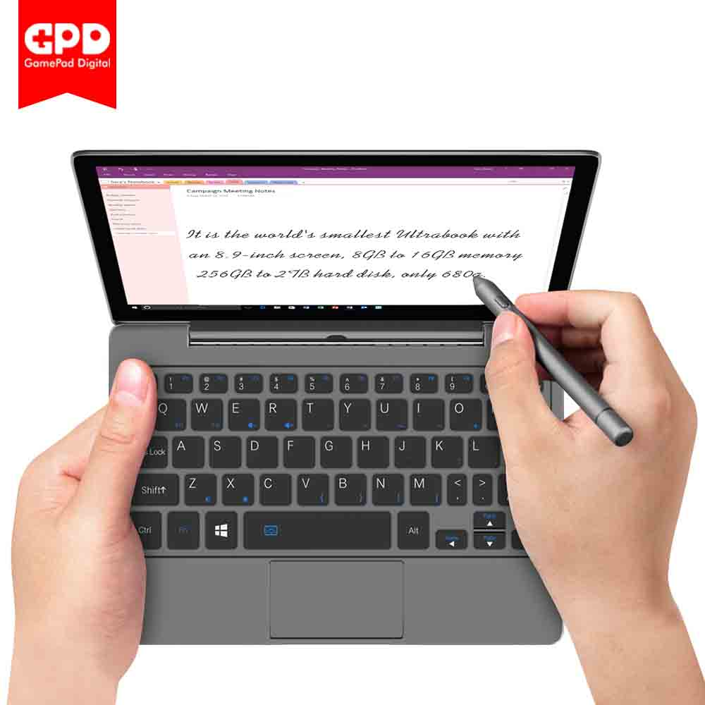 GPD P2 MAX 8.9 Inches Mini Laptop Tablet Windows 10 16G/512G 8G/256G 2.4G & 5G WiFi BT 4.2 Touch Control