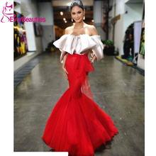 Красное сексуальное платье выпускного вечера длинное 2020 с