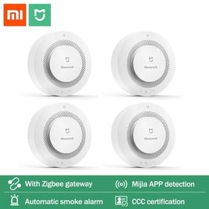 Image 1 - Mijia Honeywell Feuer Alarm Rauch Sensor Gas Detektor Arbeit Mit Multifunktions Gateway 2 Smart Home Sicherheit APP Control