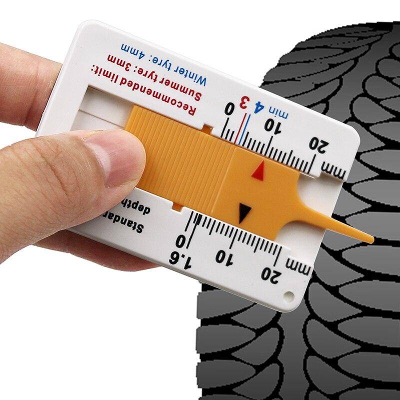 Car Wheel Tire Depth Gauge 0-20mm Tyre Tread Depthometer Depth Indicator Gauge Gage Motorcycle Trailer Van Measure Tool