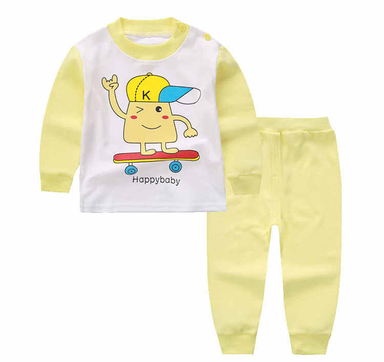 Pyjamas Trẻ Em Cotton Đồ Ngủ Hoạt Hình Quần Áo Bé Gái Dài Tay Thời Trang Judy Trẻ Em-Quần Áo-Bé Gái PJs Bé Trai Bộ Đồ Ngủ mùa Xuân