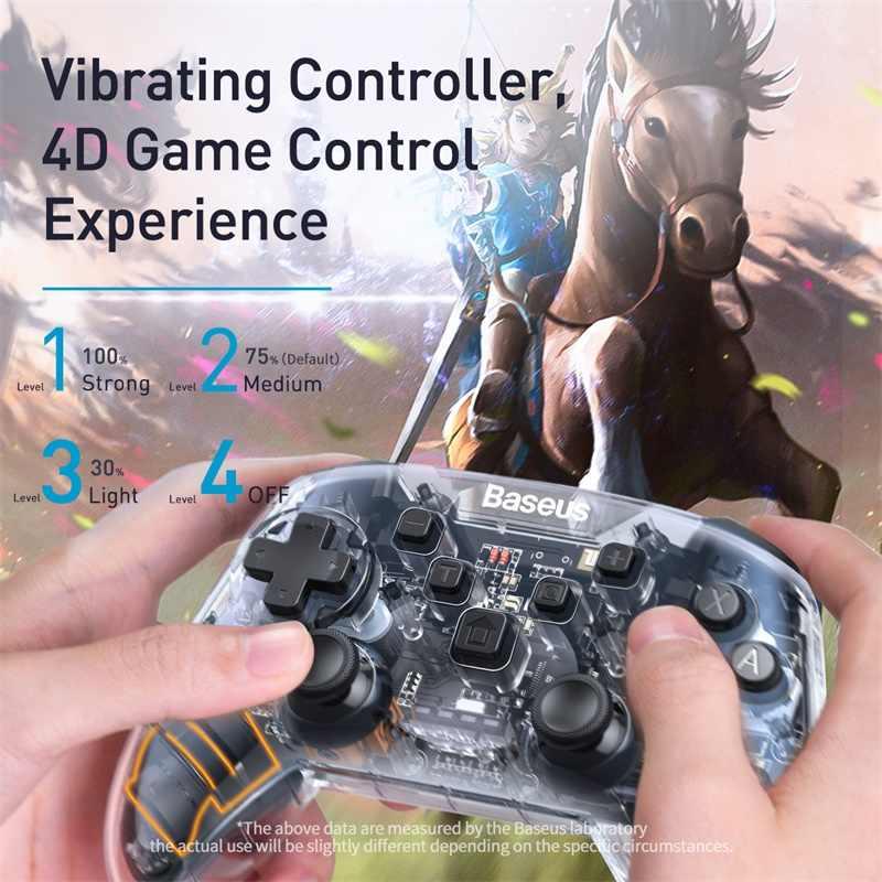 Contrôleur Baseus pour Nintendo Switch Lite Pro manette de jeu manette de jeu sans fil Bluetooth manette pour contrôle de commutateur