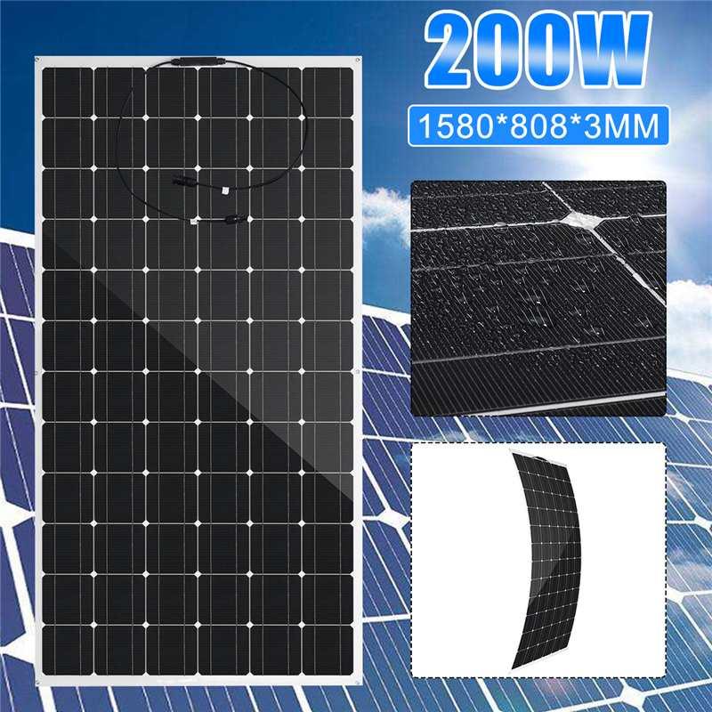 200W Solar Panel semi flexible 200W solar system Photovoltaic 36V Solar Cell battery/yacht/RV/car/boat RV with MC4 Connector