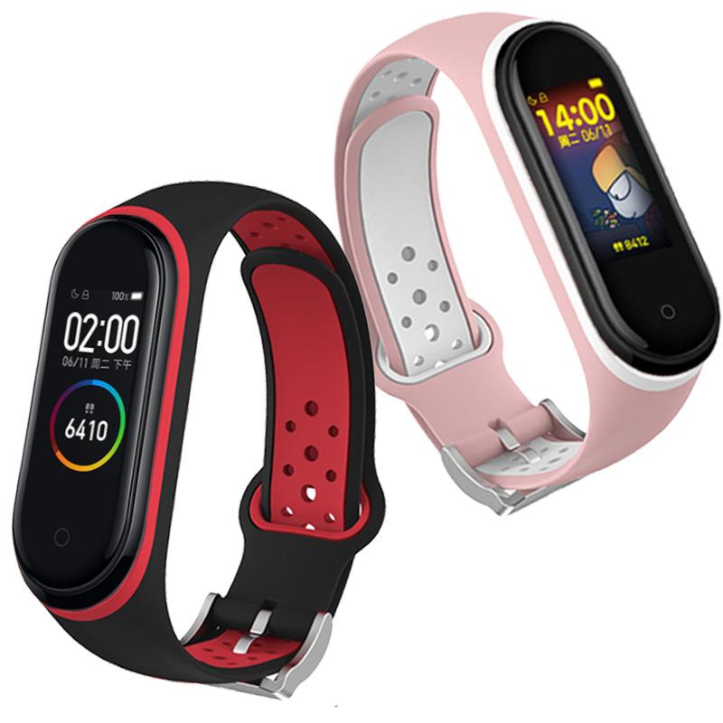 Strap For Mi band 4 5 3 6 Strap breathable bracelet for mi band 4 bracelet miband 3 4 sport strap for XiaoMi mi band 3 4 5 Strap