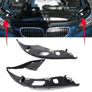 Image 2 - ไฟหน้ารถเปลือกเลนส์ครอบคลุมไฟหน้าเลนส์ซีลปะเก็นด้านข้างสำหรับ BMW E60 5 Series 63126934511 63126934512