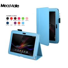 Pu leather stand holder tablet case cover for Sony Xperia Tablet Z Z1 10.1 Magnetic Folio  Fundas Case z