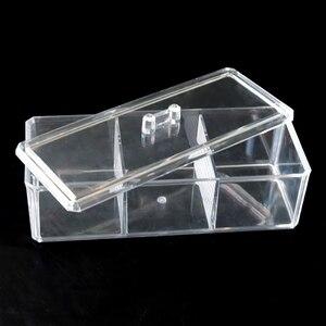 Прозрачная акриловая коробка для хранения ювелирных изделий с 3 решетками, настольная прозрачная подставка для макияжа, косметический Орга...