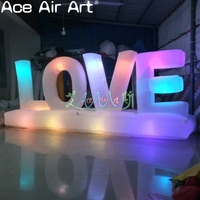 Beautiful 1.2m H Oxford Valentine decor,glowing letter balloon,inflatable LOVE with light inside shining free standing for party