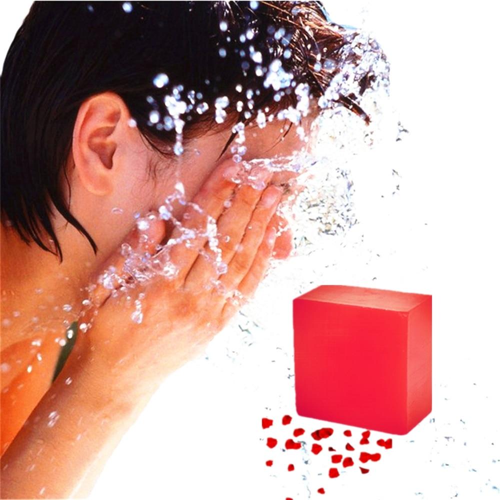 Black Spots Skin Freckles Removal Handmade Soaps Acne Treatment Rose Beauty Soap Promote Cells Regeneration Anti-oxidant Soaps