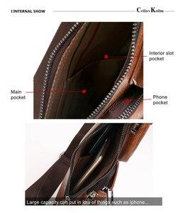 Image 4 - Celinv Koilm znane marki mężczyźni Casual Daypacks wysokiej jakości gorąca saszetka/nerka człowieka temblak skórzany torby na zewnątrz podróży