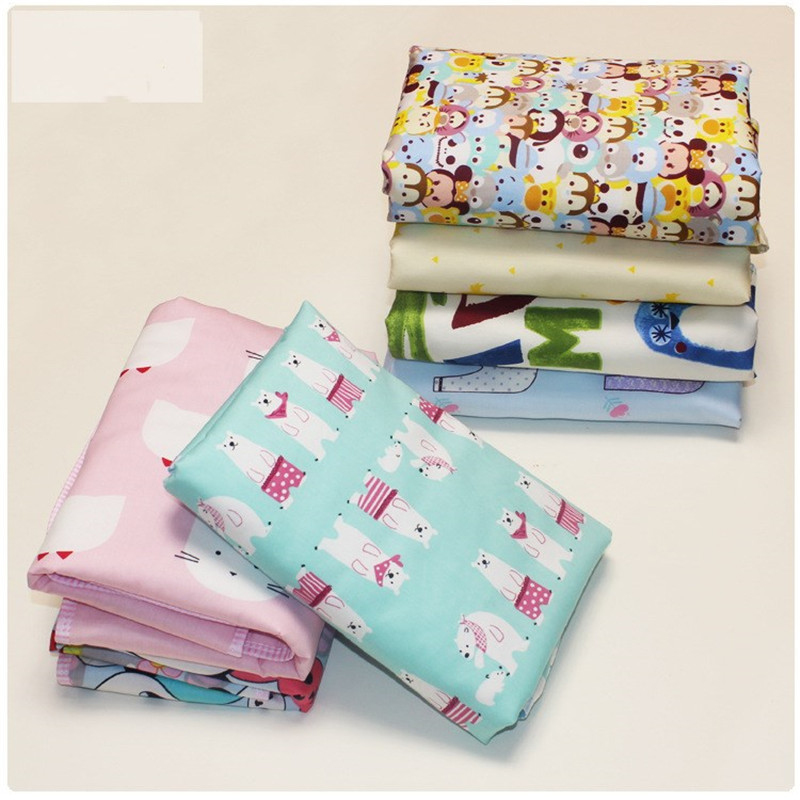 Newborn 30x45cm 100% Cotton infant Baby EVA Waterproof Print Bed Nappy Changing Sheet Mat Cover Urine Pad Mattress
