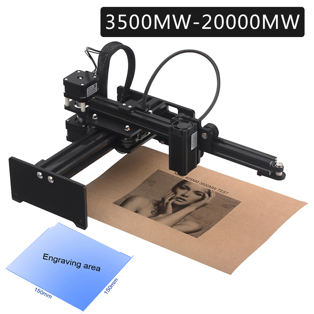 Professional CNC 20000mW Desktop Laser Engraver Carving Machine Mini DIY Printer Wood Router Kit With Protective Glasses