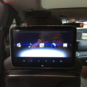 For Mercedes E300L E200L C200 V260 2020 Dedicated Android 9.0 System Headrest With TV Monitor Back Seat With jack image
