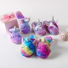 Kids Shoes Unicorn Slippers Home-Wear Animal Girl for Pajamas Kigurumi