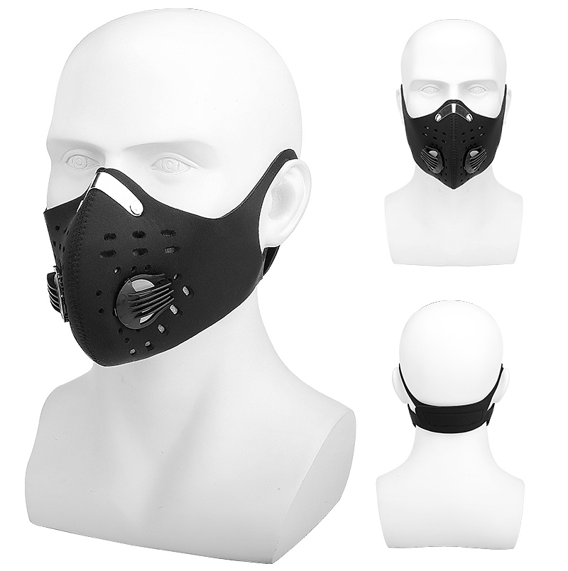 H96589bd680194cdc8f8f0d9e5d57e06cW X-Tiger Pro Cycling Face Mask With Filters Breathable Cycling Mask Activated Carbon Anti-Pollution Sport Training Bike Facemask