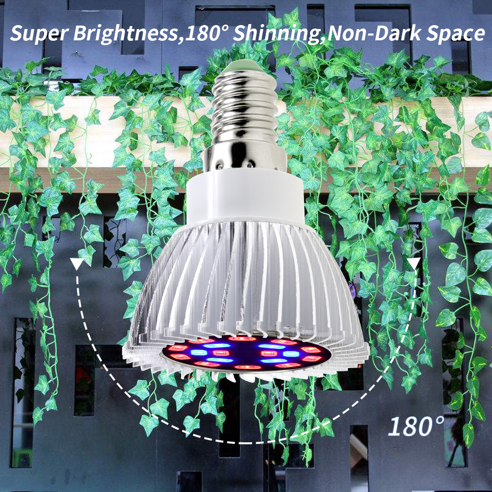 E27 Full Spectrum Bulb Grow Light LED Plant Lamp For Indoor Growing LED Hydroponics 48 60 80 126 200leds Flower Seeds Phyto Lamp