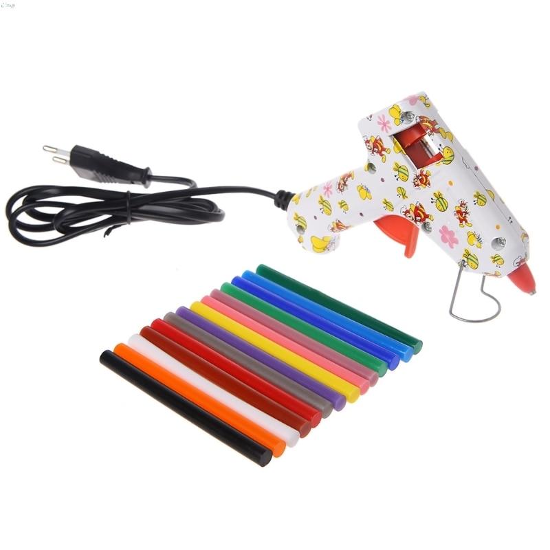 14pcs Hot Melt Glue Stick Mix Color 7mm Viscosity For DIY Craft Toy Repair Tools L29k