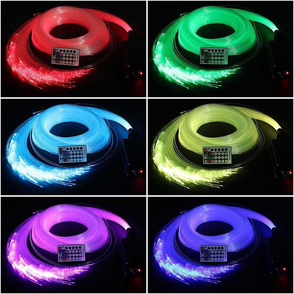 16 Вт RGBW светодиодный потолочный светильник 28 клавиш RF пульт дистанционного управления светящийся волоконно оптический кабель комплект