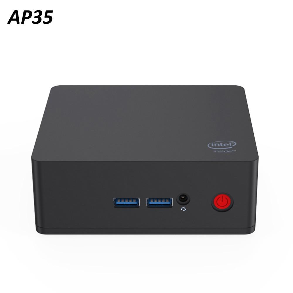 Set Top Box AP35 Windows10 Intel J3355 LPDDR4 4G 64GB EMMC Bluetooth4.0 RJ451000M HDMI1.4b USB AP35 4k 2.4G 5G WIFI Media Player