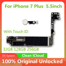 Logic BoardสำหรับIphone 7 Plus 5.5นิ้วMother Boardพร้อมTouch Idเมนบอร์ดโดยไม่มีTouch Idปลดล็อกเดิมMainboard MB 7 P