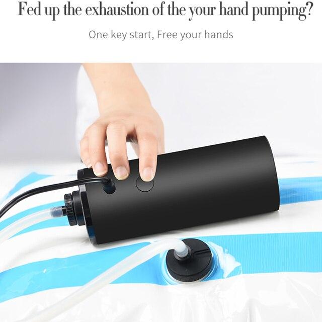 Nouveau utile mini pompe à vide automatique voyage sac de rangement pompe à vide nourriture fruits frais maintien étanchéité Machine domestique
