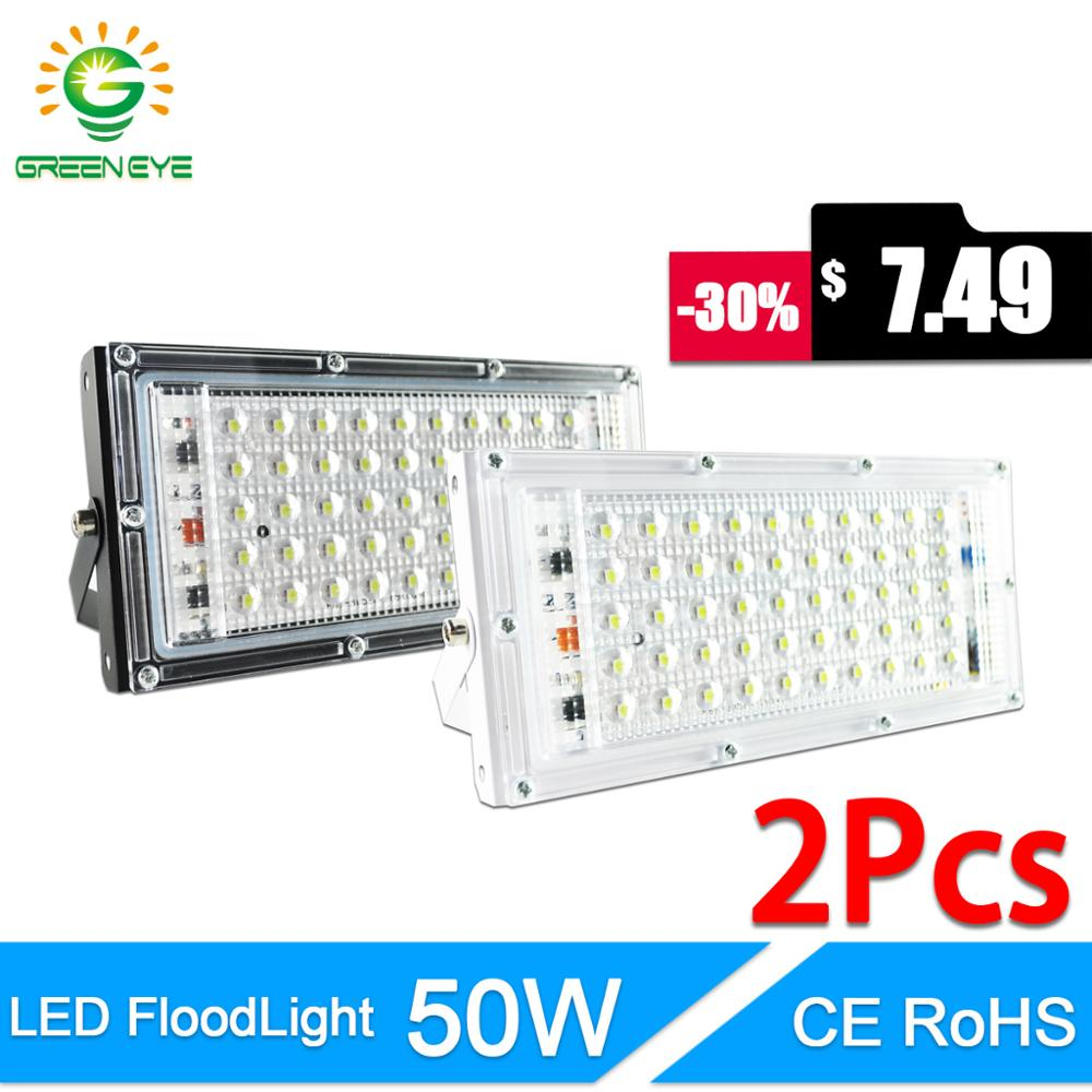 LED Flood Light 50W 10W real power Floodlight LED street Lamp AC 220V 240V waterproof IP65 outdoor Lighting led cob spotlight