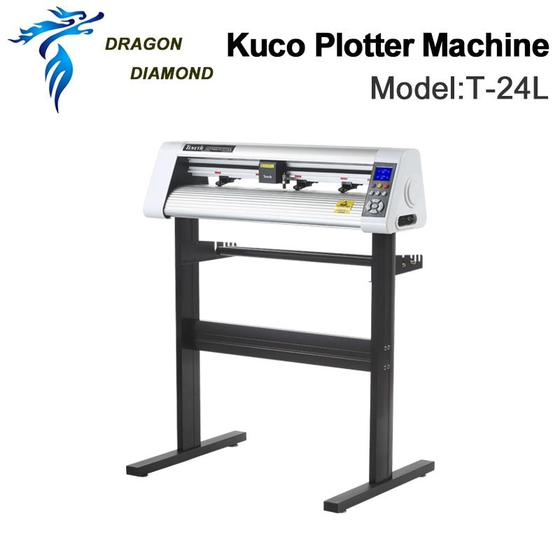 Original Vinyl  Cutting Cutter Plotters Machine Teneth KUCO 110V/220V T 24LVinyl Plotter 60cm Pattern Plotter plotter cutter plotter cutter vinyl plotter vinyl - title=