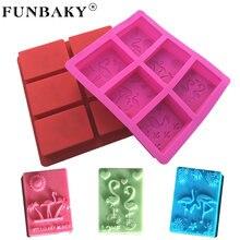 Силиконовая форма funbaky для мыла с фламинго 6 ячеек
