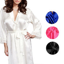 Gooheer Women Robes Sexy Lingerie Silk Lace Robe Dress Babydoll Nightdress Nightgown Sleepwear