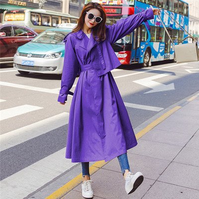 RUGOD 2019 Auturm New women Trench Coat Women Korean Double Breasted oversize casual coat office ladies Vintage loose clothing