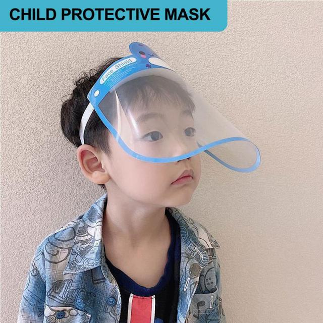 Children Full Face Shield Screen Mask Visor Eye Anti Droplet Prevent Saliva Splash Covering Droplet Transparent Mascarillas