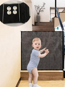 Safe-Guard-Install Fences Pet-Gate Ingenious Safety Magic Baby Portable Mesh The Folding