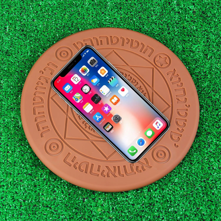 Boutique Magic optical array Wireless Charger Qi fast Charging Pad For Iphone 8 X XR XS Huawei S8 S9 Xiaomi MIX on coffee table 4