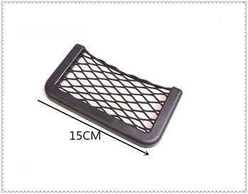 Universal Car Accessories Seat Cell Phone Debris Storage Mesh Bag for Jeep Liberty Trailhawk Commander Renegade Cherokee SAHALA image