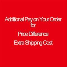 Pago adicional en su pedido, diferencia de precio, costo de envío adicional y otras raíces