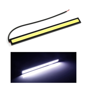 1Pc Car styling Ultra Bright 12W LED Daytime Running lights DC 12V 17cm Waterproof Auto Car DRL COB Driving Fog lamp DRL image
