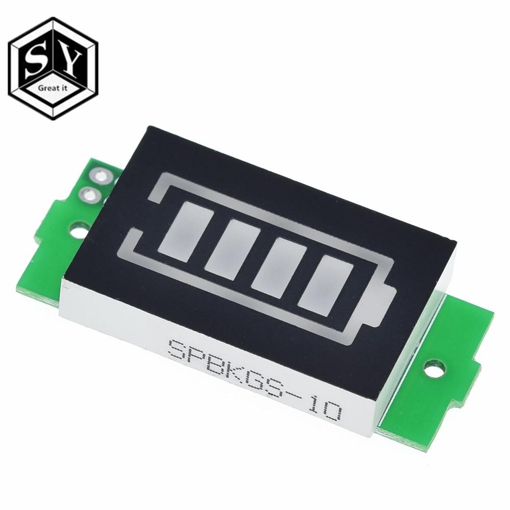 Индикатор емкости литиевой батареи 1S, 2S, 3S, 3,7 в, 4,2 в, синий дисплей, тестер мощности аккумулятора электромобиля, литий-ионный