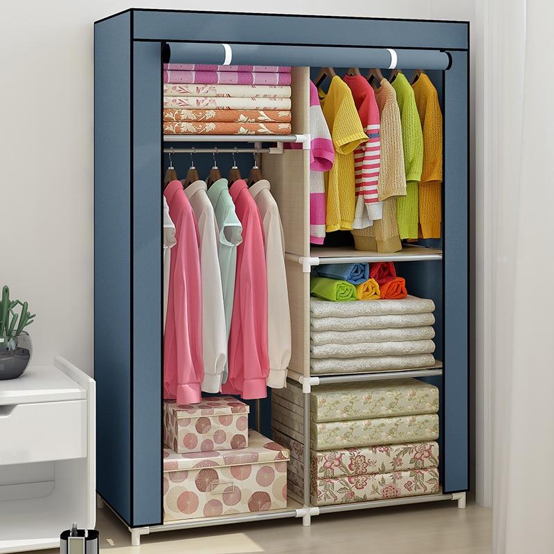 Large Capacity Non-woven Cloth Wardrobe Folding Portable DIY Wardrobe Clothes Storage Cabinet Closet Home Furniture