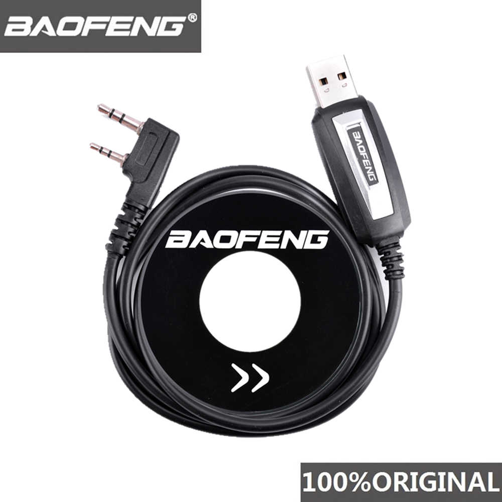 100% Originele Baofeng Walkie Talkie 50Km Usb Programmeerkabel Voor 2 Way Radio UV-5R BF-888s UV5R K Poort Driver met Cd Software