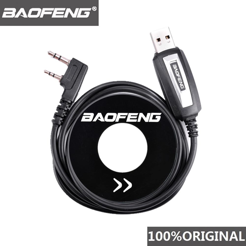 100% Original Baofeng Walkie Talkie 50km USB Programming Cable For 2 Way Radio UV-5R BF-888s UV5R K