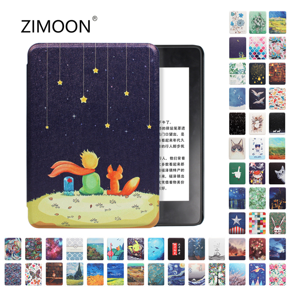 Amazon Kindle Paperwhite Case Smart Cover for Kindle 10th Hard Case for Kindle Paperwhite 4/3/2 Print Cover for Kindle 8th-0