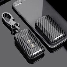 Carbon Fiber ABS Auto Key Cover For Mitsubishi Outlander wing gods 2016 Lancer 2/3 Buttons Smart key Case Shell Set