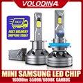 Светодиодная мини-лампа voloдина H7 Canbus с чипами SAMSUNG H4, светодиодные лампы для автомобильных фар 6000K H1 9005 HB3 9006 HB4 H8 H11, противотуманные фары