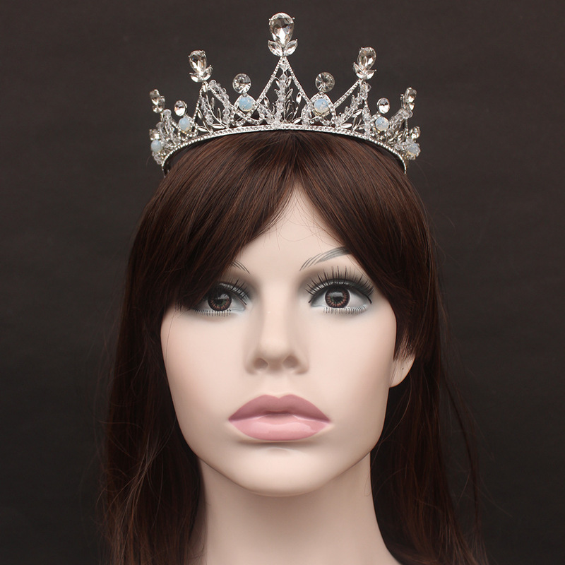 Princess Crown Decoration for Hair Bride Headband Diadem Girls Wedding Tiara Bridal Accessories on The Head