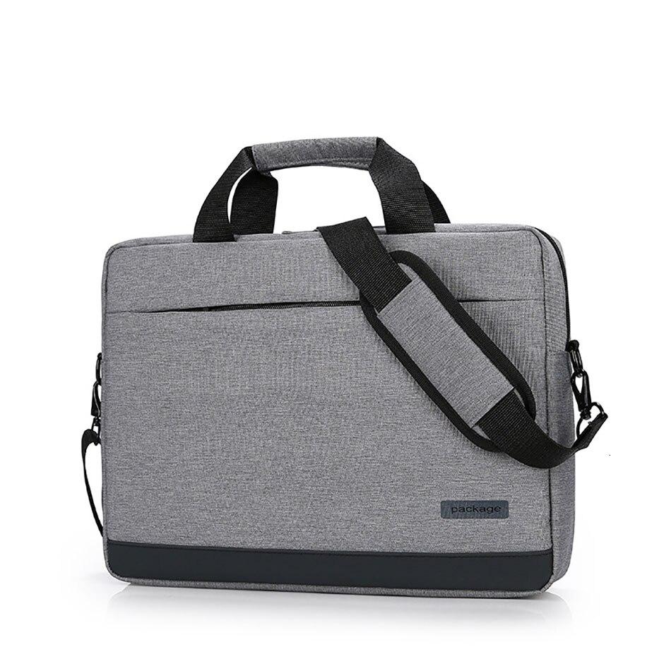 Oxford Waterproof Briefcase For Men Solid Color Men's Shoulder Bag Laptop Computer Document Holder Laywer Office Bag
